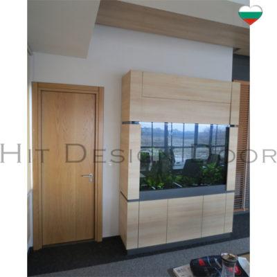 Хит Дизайн, Hit Design Door - врати с размери по поръчка. Фърнирован МДФ, естествен фурнир. Дъб, байц, лак.