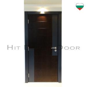 АТИ Хит Дизайн, Hit Design Door - врати с размери по поръчка. Фърнирован МДФ, естествен фурнир. Дъб, байц, лак.
